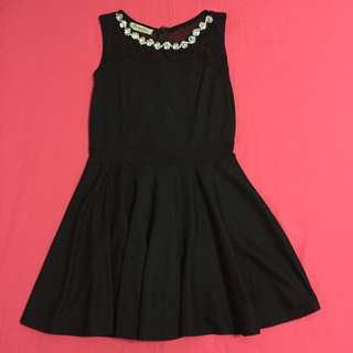 Black Party Dress w Crystals