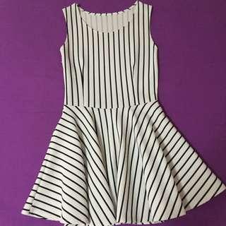 Black White Stripes Dress