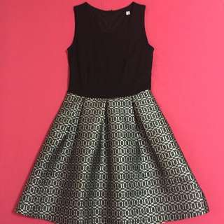 Black Silver Glitterati Dress