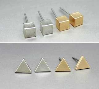 幾何極簡風格耳環