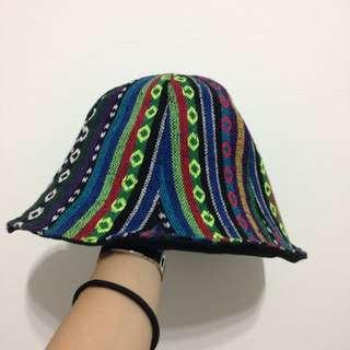 (保留)復古圖騰雙面漁夫帽