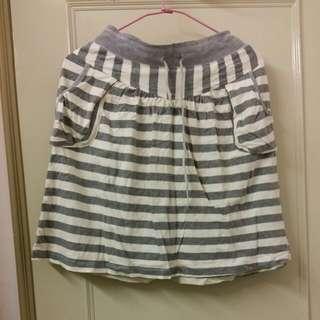 二手 灰色 條紋 裙