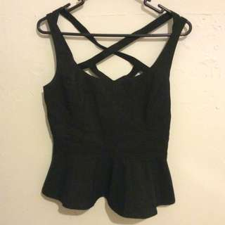 Lolita Black Strappy Top