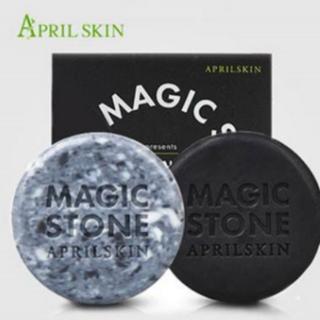 預購!!韓國 APRILSKIN~MAGIC STONE天然魔法石潔顏皂(100g) 日用/夜用(一組不單賣)