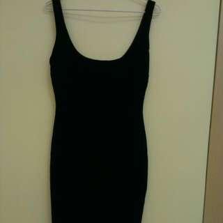 zara 黑色連身裙 氣質性感洋裝