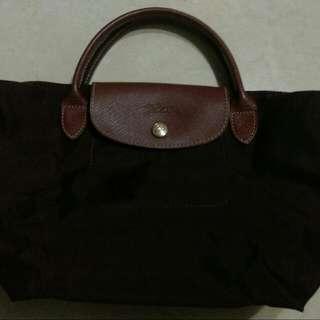 【已保留,待匯款】Longchamp包,手提包,酒紅色,S號