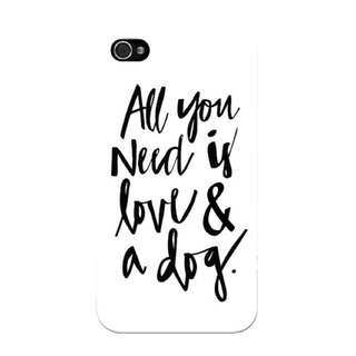 Love And A Dog White Phone Case