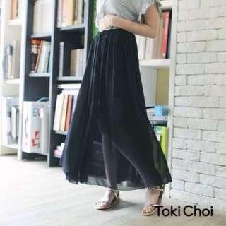 轉賣)東京著衣透視感黑紗裙