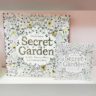 療癒 塗色書 秘密花園