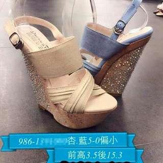 正韓 杏色 夜店鞋