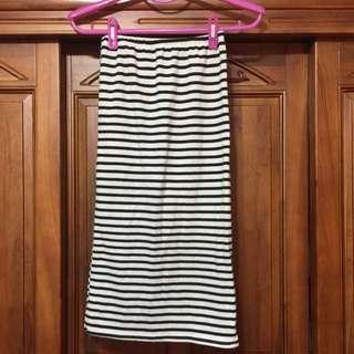 二手 條紋鉛筆裙