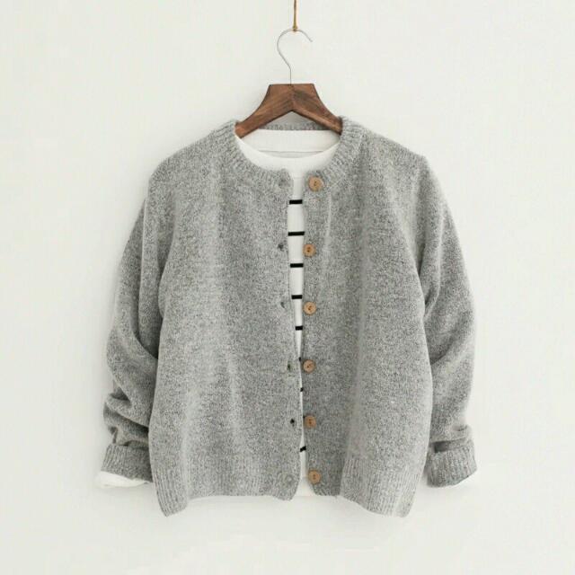 韓國羊絨針織外套
