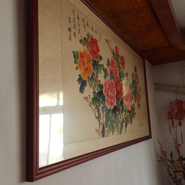 含框壁畫,掛畫