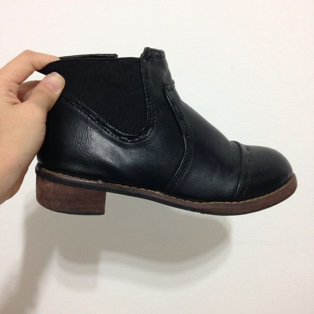黑色短靴 踝靴