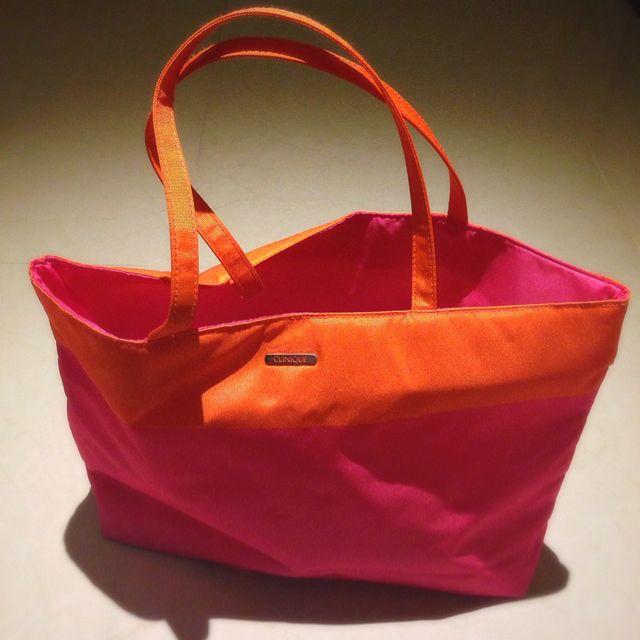 倩碧 肩包 二手 橘粉 亮彩包包