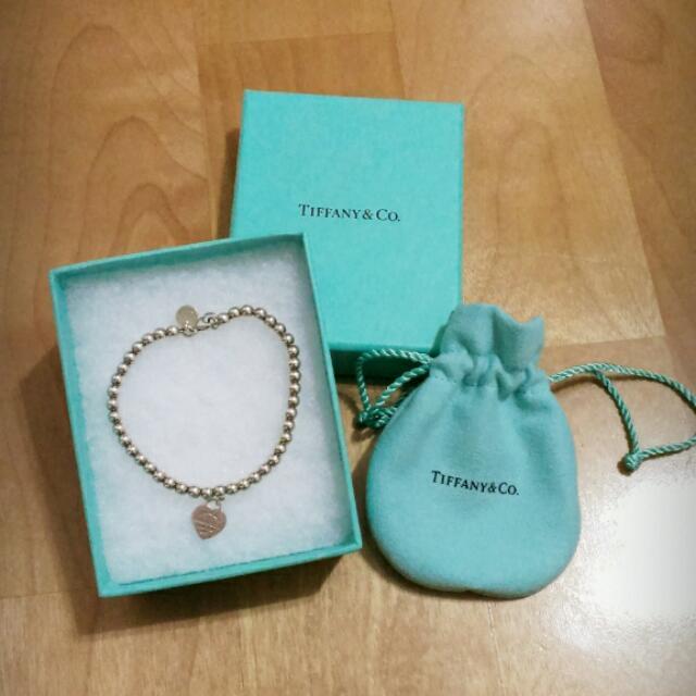 香港購回 Tiffany mini 925純銀 心牌圓珠手鍊 ✨