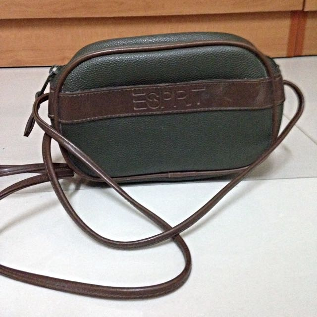 8ac20ede1 **Fast Deal $15** Authentic Esprit Leather Sling Bag, Luxury on Carousell