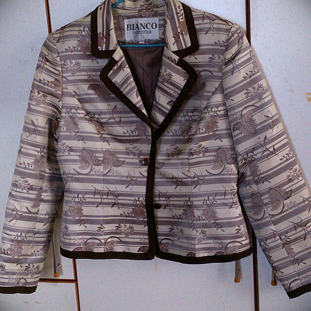 BIANCO提花緞面西裝外套
