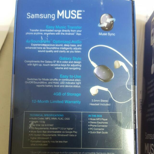CLEARANCE SALE (Samsung Pebble (Muse) MP3 Player