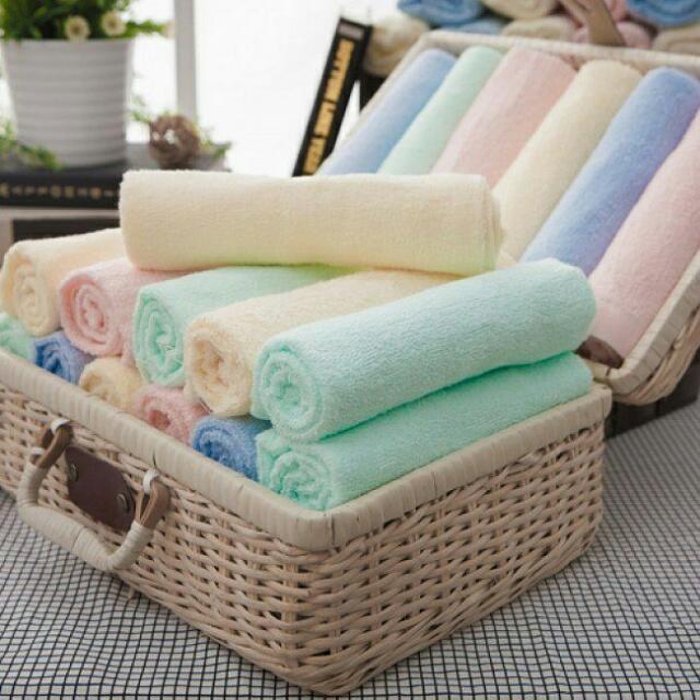 @愛買寶-【MORINO摩力諾】100%純棉 素色 毛巾 (一組4條入)