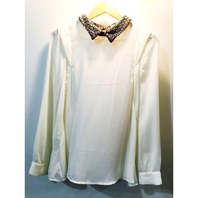 Pazzo 飄逸復古氣質雪紡上衣