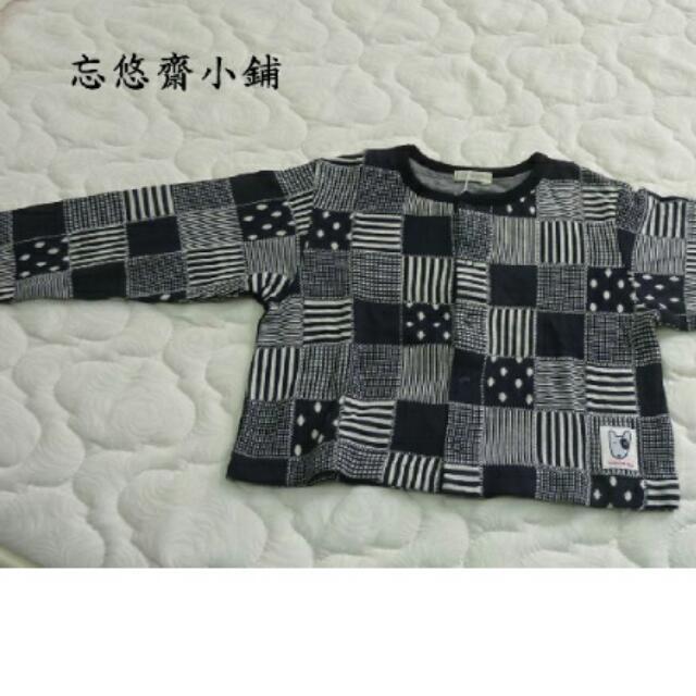 低價出售-TINKERBELL 黑色格子提花上衣可當小外套 9歲穿130CM 100%純棉 特價100元