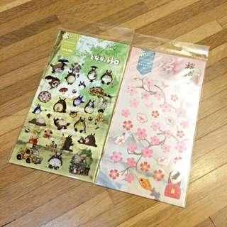 日本 宮崎駿 龍貓貼紙/櫻花貼紙