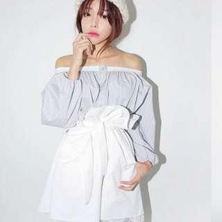 韓版平口長袖衣