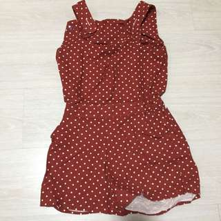 Korea Polkadots Jumpsuit NEW