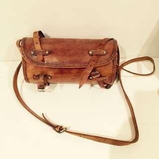 Leather Vintage Round Bag