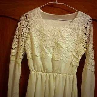 蕾絲雪紡裙