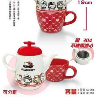 ✨7-11 Hello Kitty聯名下午茶杯壺組  限量現貨搶購中✨