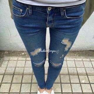 徵收小腳褲牛仔褲