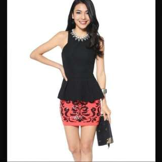 BNWT Love Bonito Joann Top In Black, XS