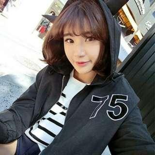 韓國定制搞怪蝙蝠俠造型植絨印花寬松連帽風衣
