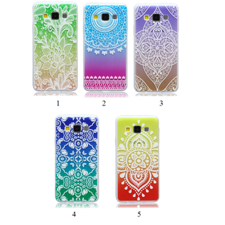Samsung Galaxy Variety Models Case Cover Back Print Silicone Case - Henna Mendala Ombre Gradient