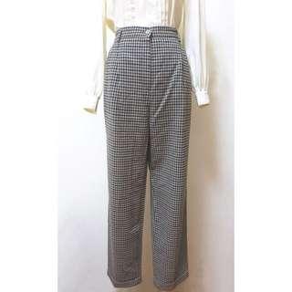 VP0141220古著義大利製格紋反折西裝褲