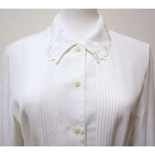 VSH0141214蝴蝶結刺繡假領結古著襯衫
