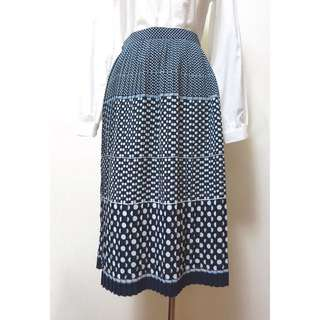 VSK0141211漸層圓點古著百褶裙