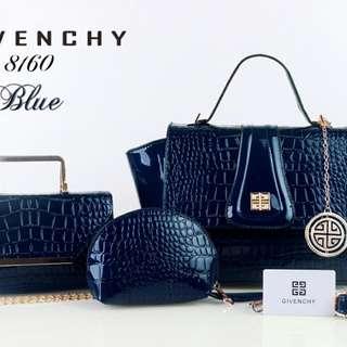 GIVENCHY 3IN1 mn SEMIPREMIUM; BAHAN CROCO GLOSI ;SERI 8160;UKURAN 26X12X21cm;Ready 6 Warna Available BEIGE RED BLACK GOLD BLUE GREEN