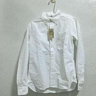 無印良品有機棉長袖襯衫