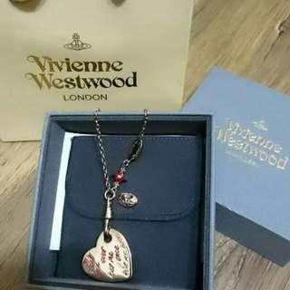 (降)1980全新正品Vivienne Westood 心牌項鍊