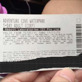 1 piece only @ $18. Adventure Cove Adult Ticket