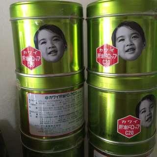 日本境內帶回來的  KAWAI康喜健鈣魚肝油