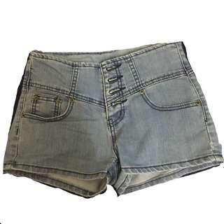 排釦高腰褲