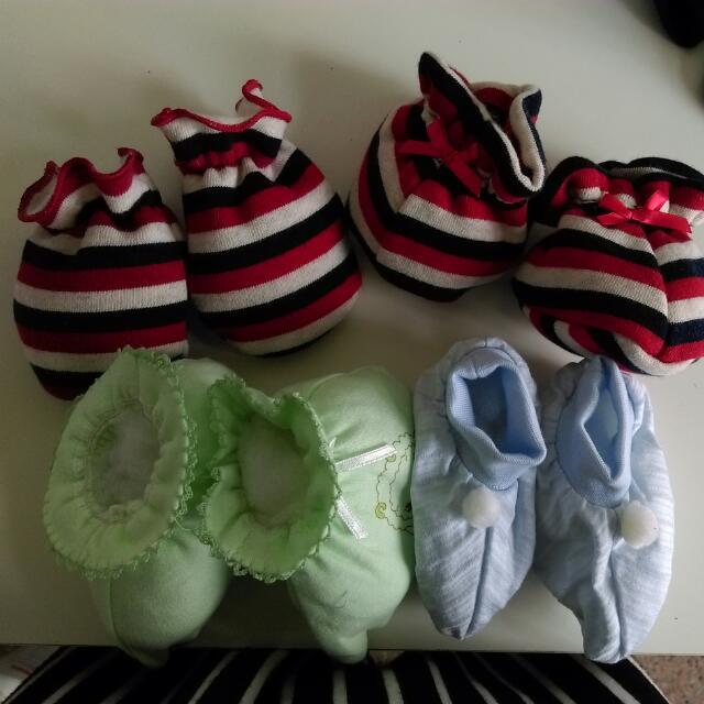 (不零售)寶寶襪*3贈一手套
