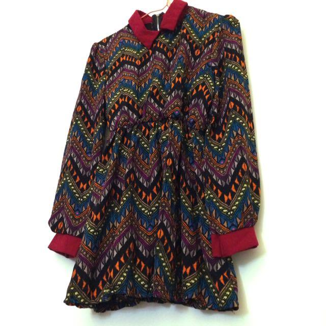 (保留)復古圖騰洋裝