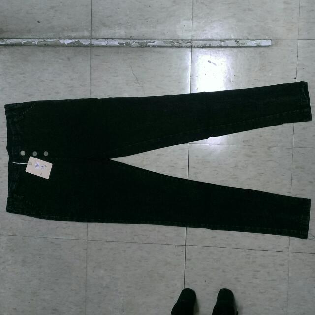 彈力水洗黑長褲(含運)