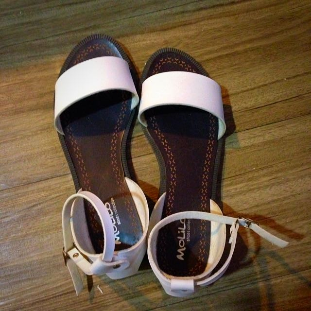 韓製白色涼鞋