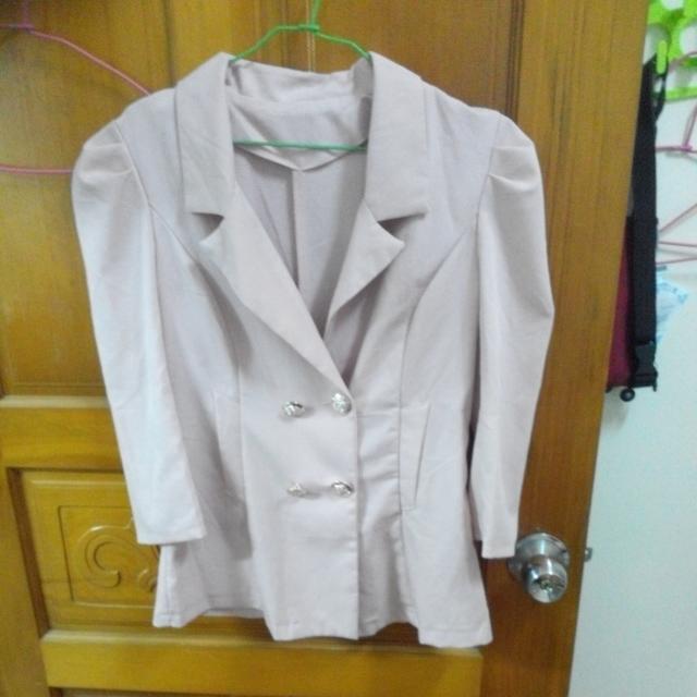 西裝外套(粉紅)
